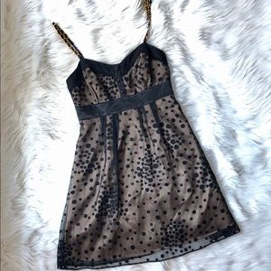 GUESS Polka Dots with Gold Chain Straps  Dress